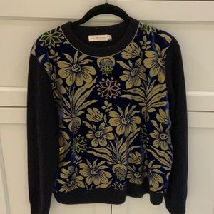 Tory Burch wool sweater with velvet front